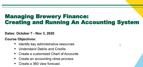 Managing Brewery Finance